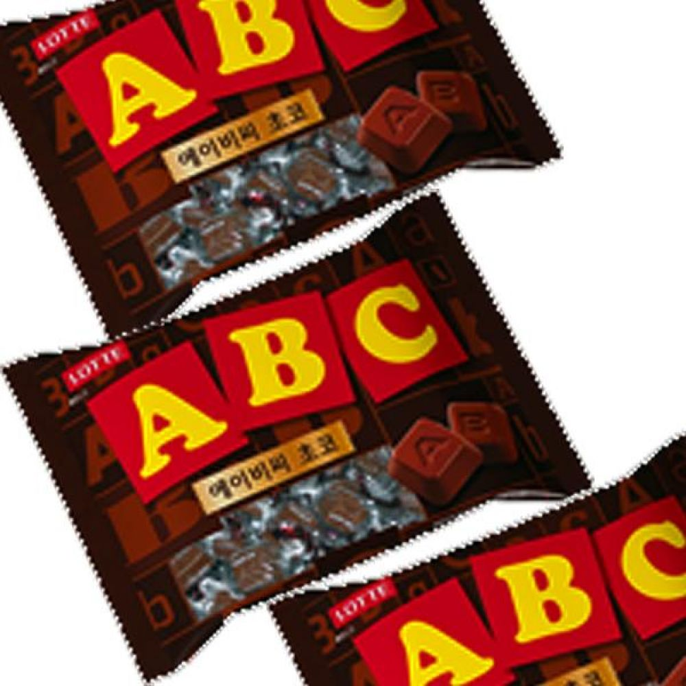 롯데)ABC 초코 초콜릿 65g x 10개 영문이 새겨진 초코릿 한입에 쏙 초코렛 달콤 선물 발렌타인 화이트데이