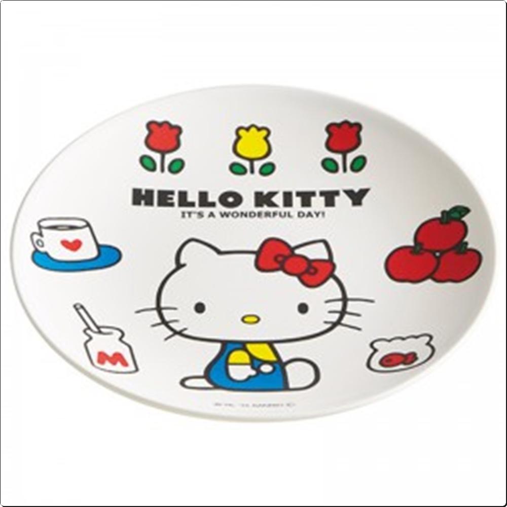 헬로키티 레트로 접시 19.8cm(일)(317408) 캐릭터 캐릭터상품 생활잡화 잡화 유아용품