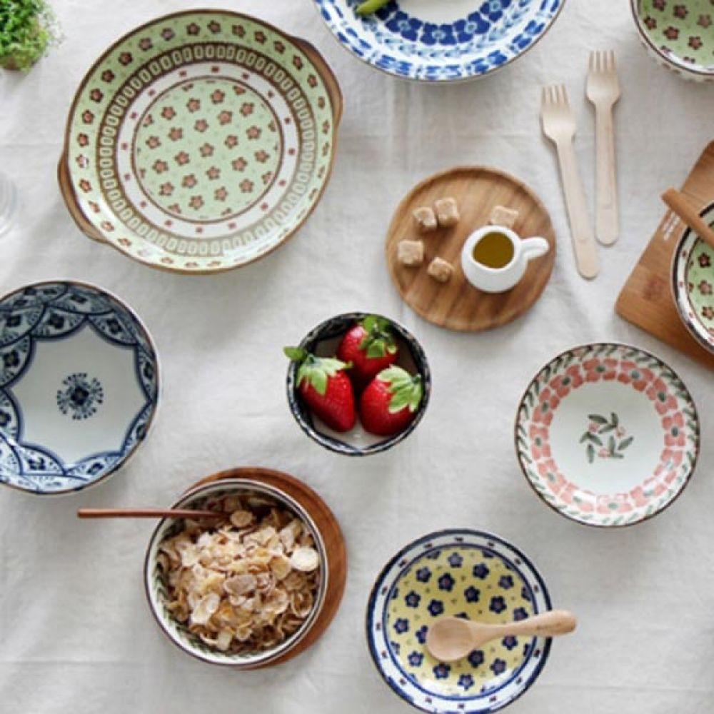 폴랜스 대접 핑크 5P 식기 예쁜그릇 국그릇 주방용품 예쁜그릇 식기 대접 국그릇 주방용품