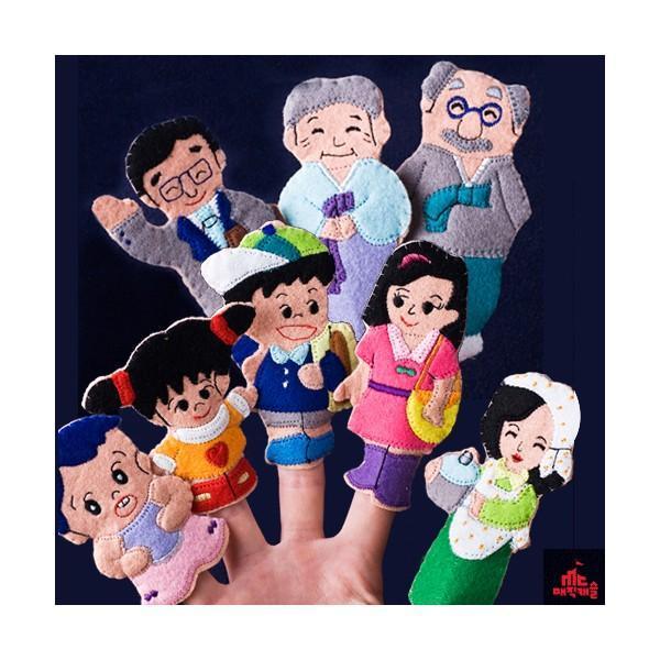 매직캐슬 손가락 가족이야기(한복할머니) (2061) (36개월 이상) (손가락 인형 극장) 매직캐슬 손인형 헝겊인형 인형극 인형