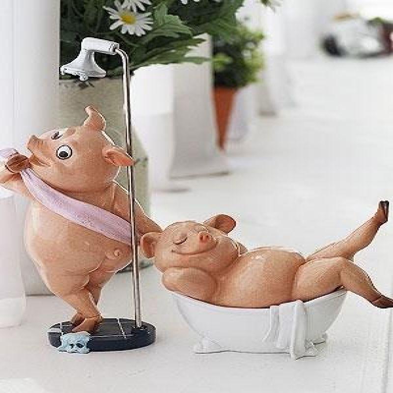 목욕하는 핑크 돼지 2P세트 (2size)