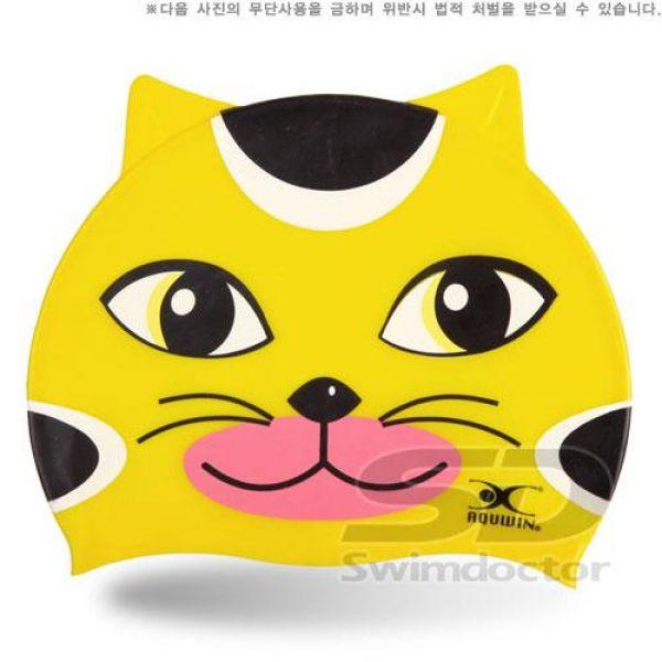 KITTY_YEL 아쿠윈캐릭터수모 수영모자 수영용품 수영모 수중운동용품 캐릭터수영모