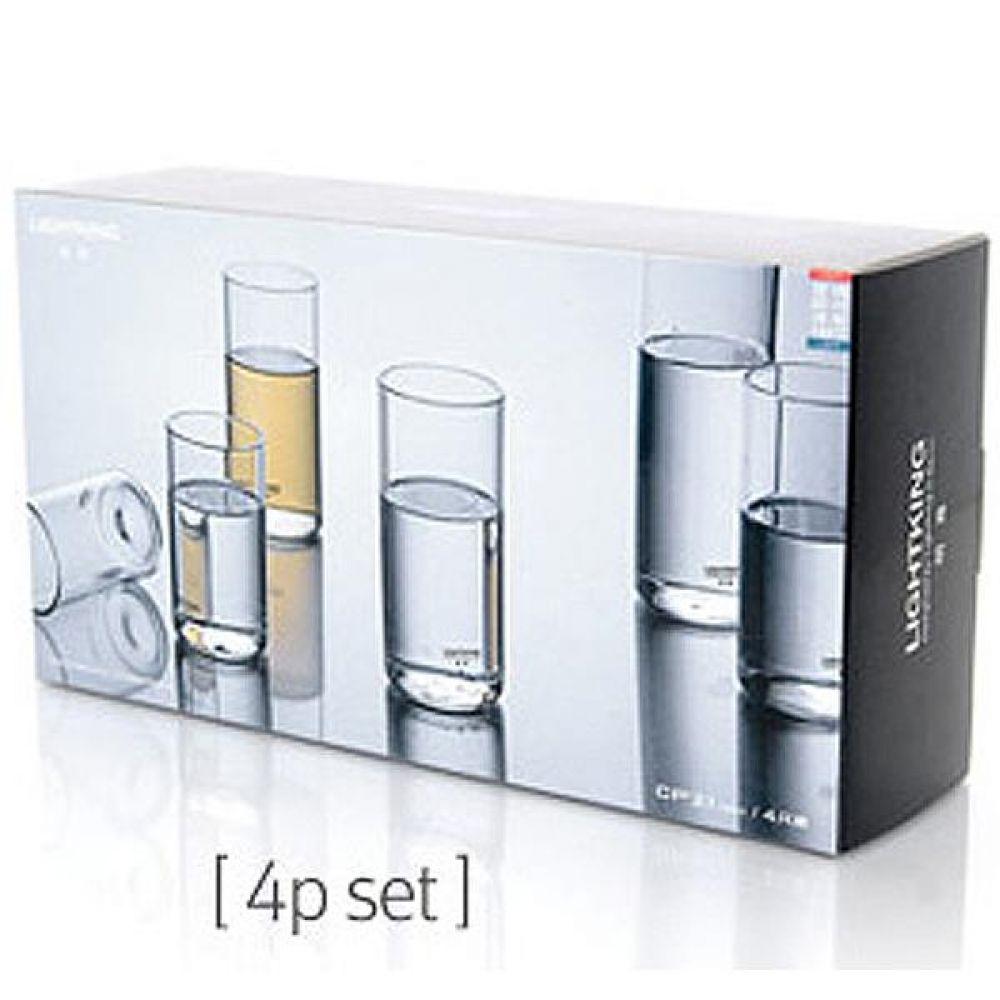 라이트킹 CP21 4p세트 명존 글라스 찻잔내열유리 차 커피 컵 잔 유리잔