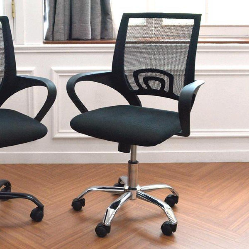 심플 라인 크롬 메쉬체어 실버 의자 식탁의자 좌식의자 원목의자 책상의자