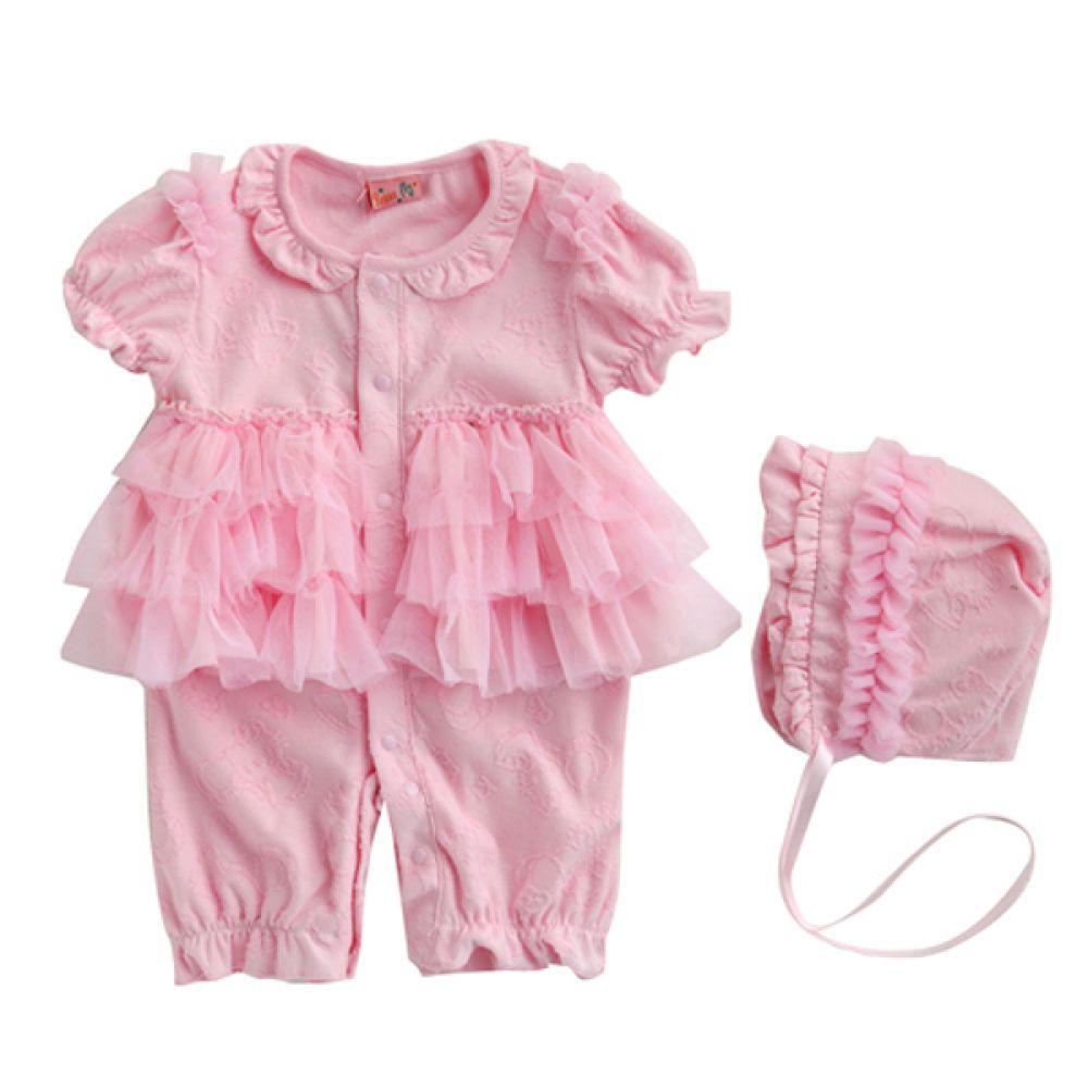 레이스 캉캉 우주복 핑크 2종 (0-9개월) 300195 우주복 롬퍼 백일옷 바디수트 아기옷 유아옷 신생아옷 돌복 유아실내복 아기실내복 아기외출복 신생아복