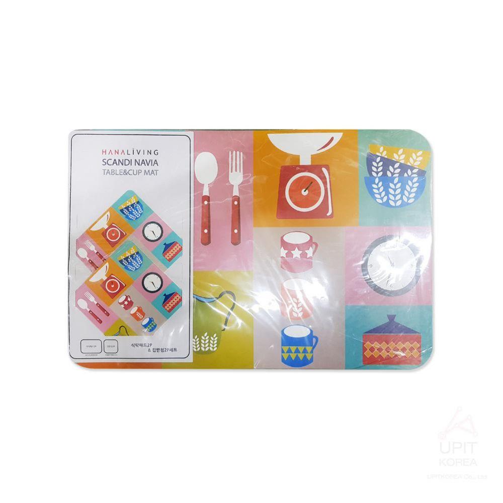 식탁매트2P 컵받침2P세트 키친 TCM-KC_6289 생활용품 가정잡화 집안용품 생활잡화 잡화