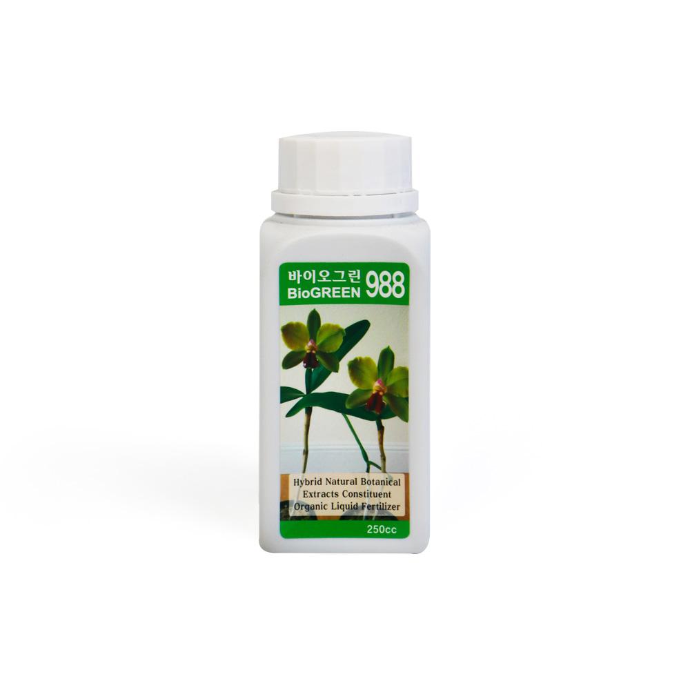 바이오그린988 250ml  식물영양제 화분영양제 비료 비료 하이포넥스 식물영양제 하이포넥스영양제 퇴비 분갈이흙 베란다화분 화분받침대 비료