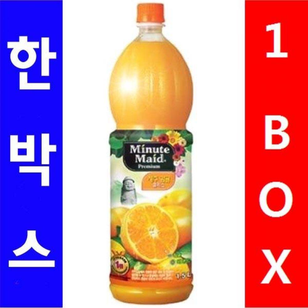 코카)미닛 프리미엄 오렌지 1.5L 1박스(12병) 대량 도매 세일 판매 음료