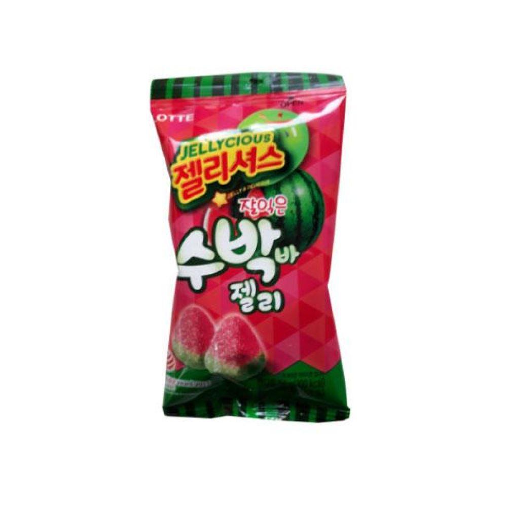 롯데 수박바 젤리(56g) x 16개 과자 껌 사탕 젤리 대량
