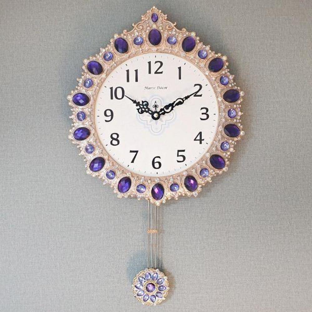 로얄퍼플 추시계 추시계 벽시계 벽걸이시계 인테리어벽시계 디자인시계