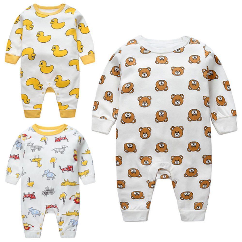 아기자기한 동물 우주복(0-24개월) 203696 아기우주복 유아우주복 우주복 아기실내복 유아실내복 바디슈트 아기잠옷 유아잠옷 면우주복 신생아우주복
