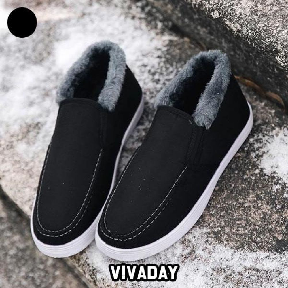 VIDS-SS225 털슬립온 스니커즈 로퍼 플랫 단화 운동화 데일리운동화 패션운동화 모카신 방한화 겨울신발