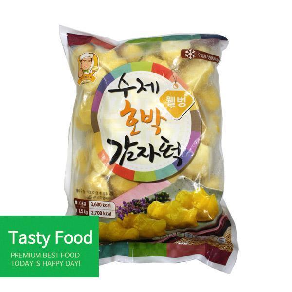 (냉동)명가에프씨 웰빙호박감자떡2kgX5개 분식 명가에프씨 감자떡 식자재 식품