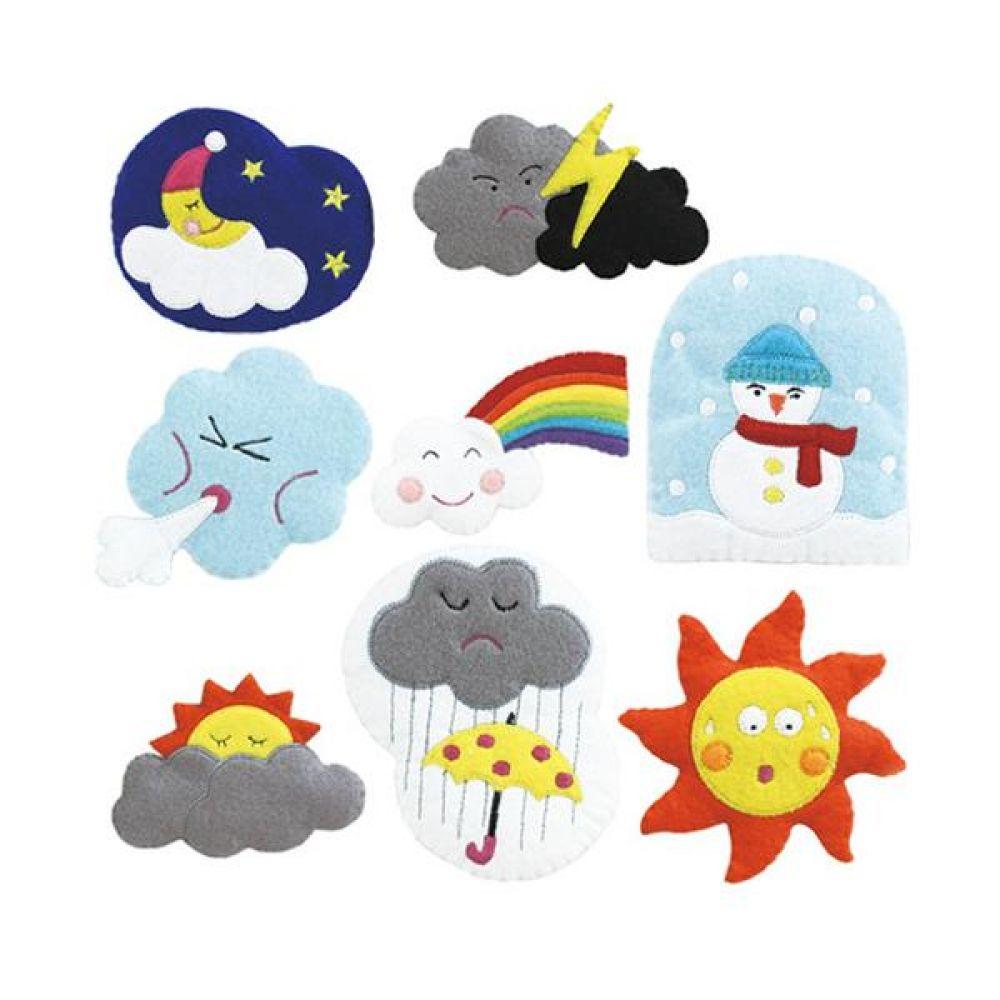 융판 탈부착용 날씨 토독 8종세트 완구 문구 장난감 어린이 캐릭터 학습 교구 교보재 인형 선물