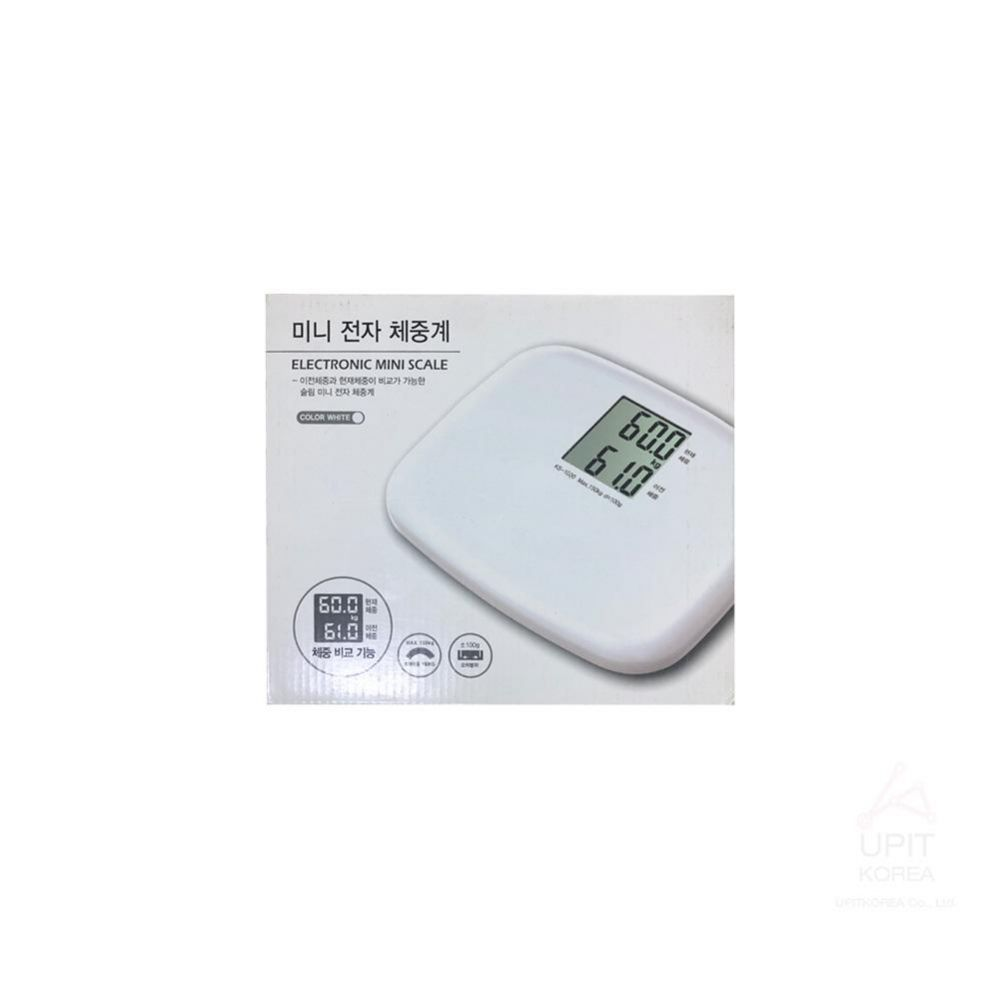 아이워너 미니 전자 체중계 KS-1000 화이트_8301 생활용품 가정잡화 집안용품 생활잡화 잡화