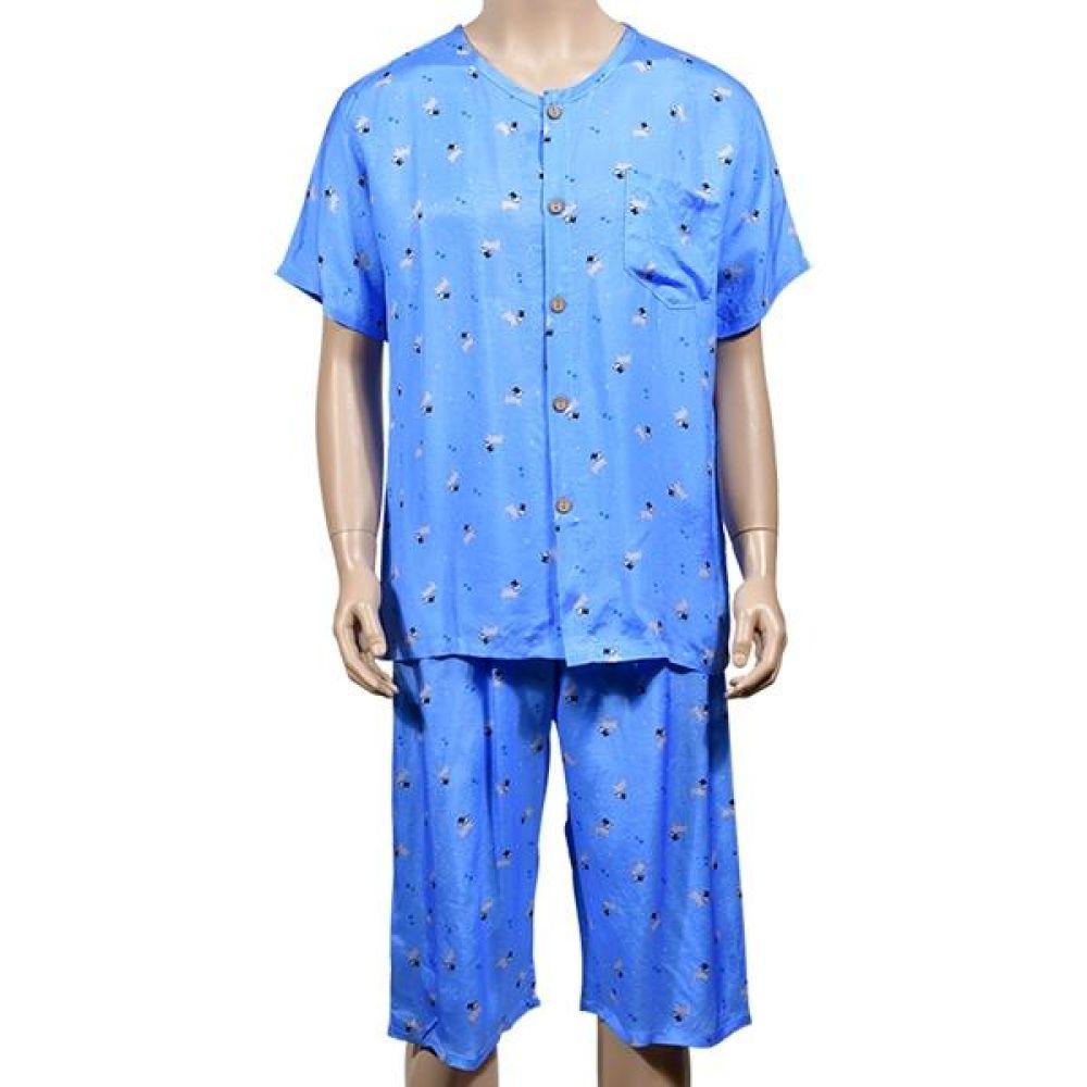 바람 풍 자연인견 멀티 패턴의 남성 잠옷 상하세트 남자잠옷세트 남성홈웨어 남자실크잠옷 남성파자마 남자수면잠옷 긴팔잠옷 남자실내복 반팔잠옷