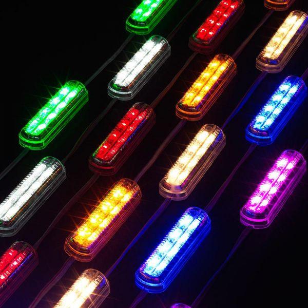12V-24V 포커스빔LED모듈 / 간판 매장외부 인테리어 자동차량 조명램프 3구모듈 왕눈이 LED모듈 LED바 4구모듈