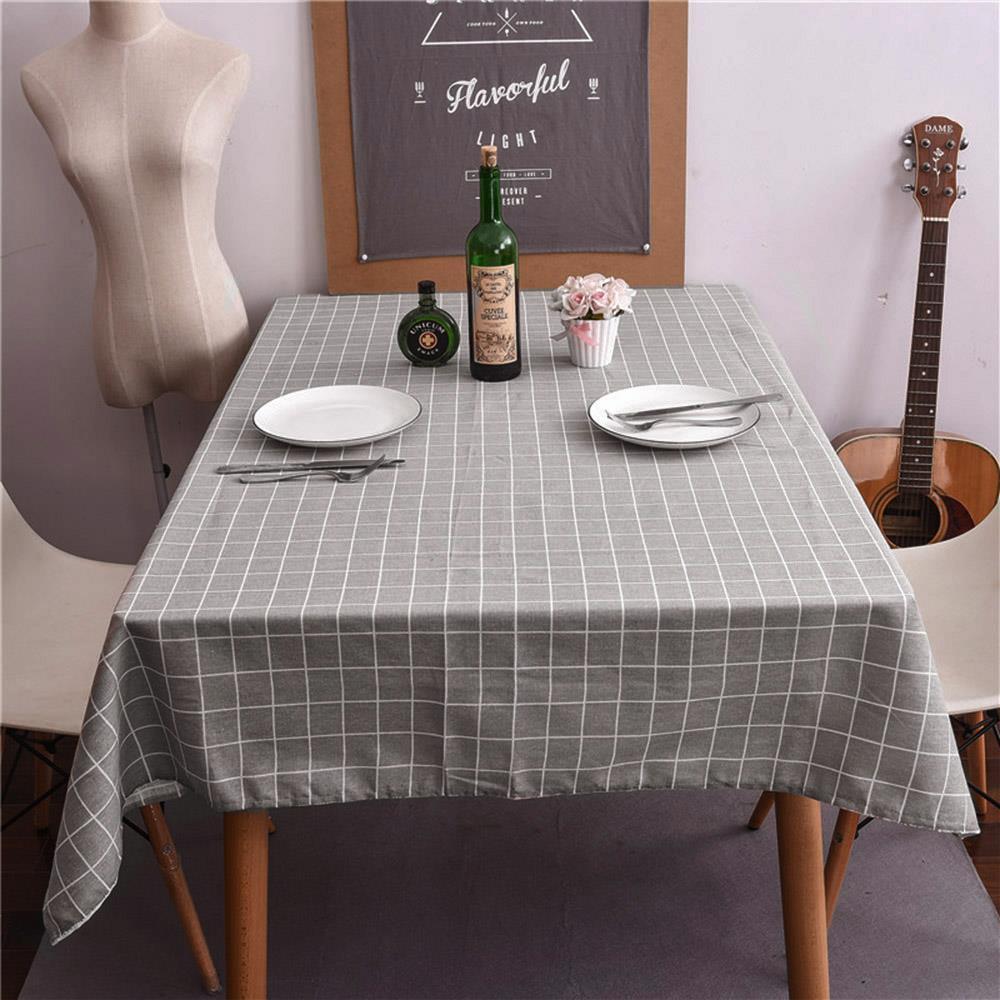 100cm 그레이 체크 사각 식탁보 식탁테이블보 식탁매트 식탁커버 테이블커버 식탁러너 테이블보