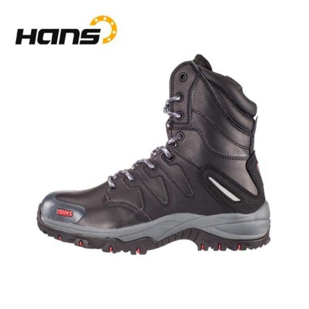 한스 HS-54 스마트 8in 중작업용 장화 안전화 안전화 HANS 한스산업 가죽안전화 지퍼안전화 지퍼타입 조선용안전화 안전장화