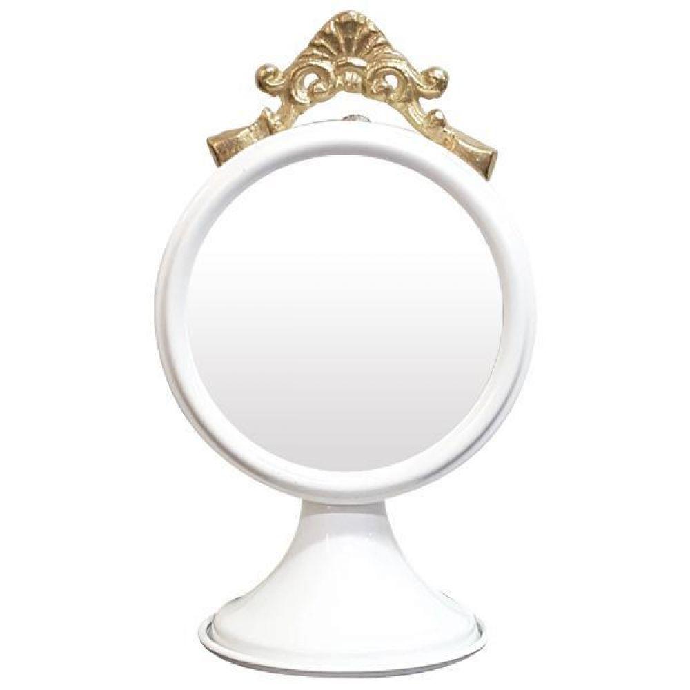 IG7358 장식용 탁상 거울 화이트 제조한국 탁상거울 인테리어탁상거울 메탈탁상거울 모던탁상거울 주석탁상거울