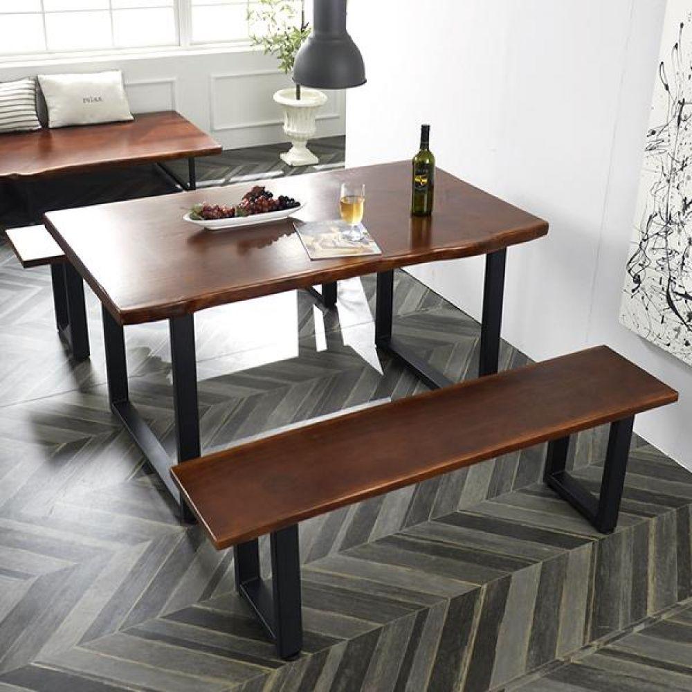 심플라인 통 원목 테이블 벤치 세트 1400 테이블 다용도상 거실테이블 티이블 미니테이블