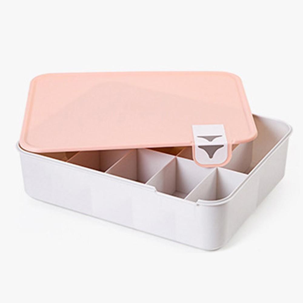 박스 10칸 속옷 정리함 수납함 다용도 수납 상자 리빙 수납함 정리함 수납박스 수납정리함 리빙박스