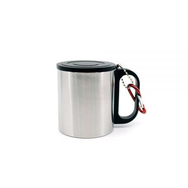이중스텐등산컵(1개) 등산컵 물컵 스텐물컵 등산컵 스텐컵 휴대용컵 캠핑컵 물컵