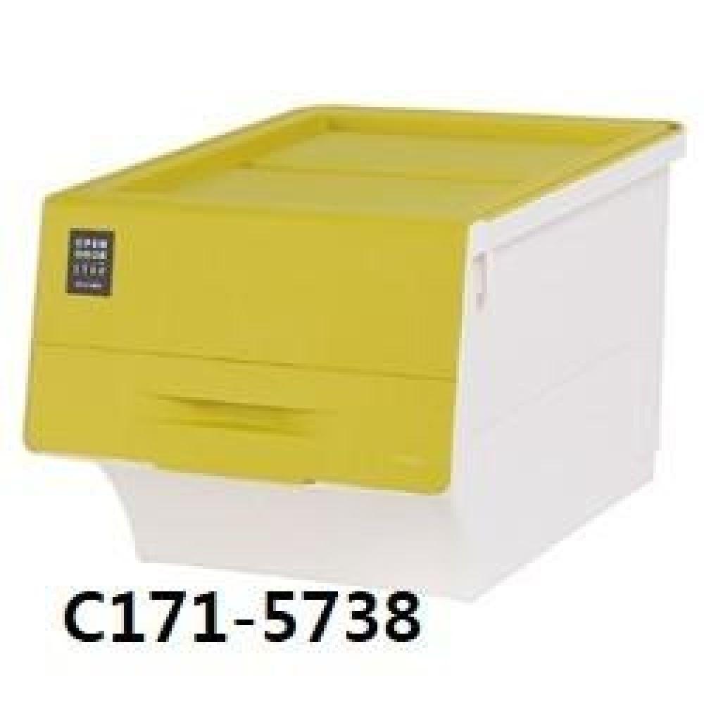창신 오픈도어스텝박스라임(대) C171-5738 생활용품 수납용품 수납 청소 박스