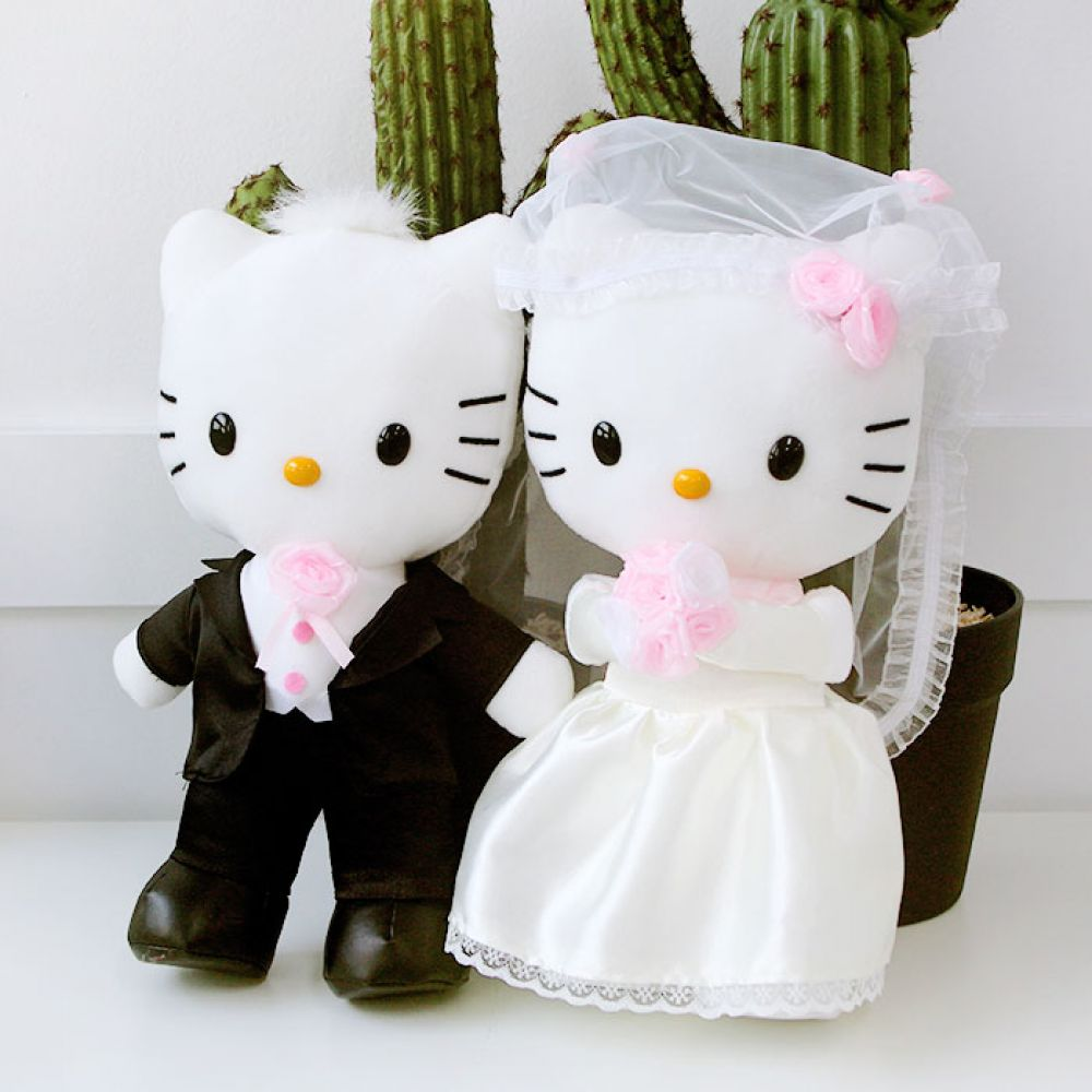 헬로키티 디어다니엘 웨딩인형 SET 캐릭터인형 헬로키티 키티인형 키티 웨딩인형 신혼부부인형 결혼선물 귀여운인형 크리스마스 산리오