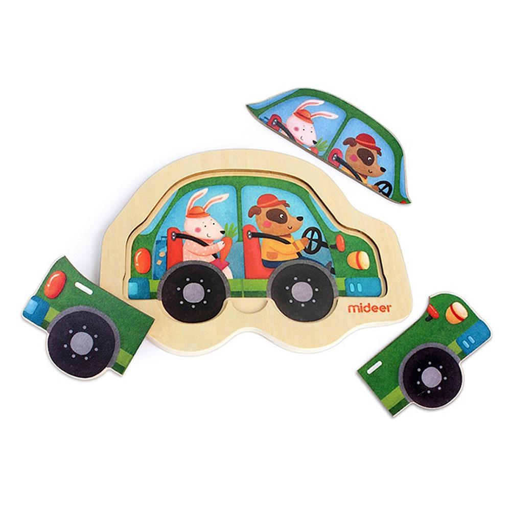 교구 2살 2세 유아 미니 퍼즐 자동차 3P 어린이 학습 퍼즐 어린이교구 창의교구 아동퍼즐 창작놀이