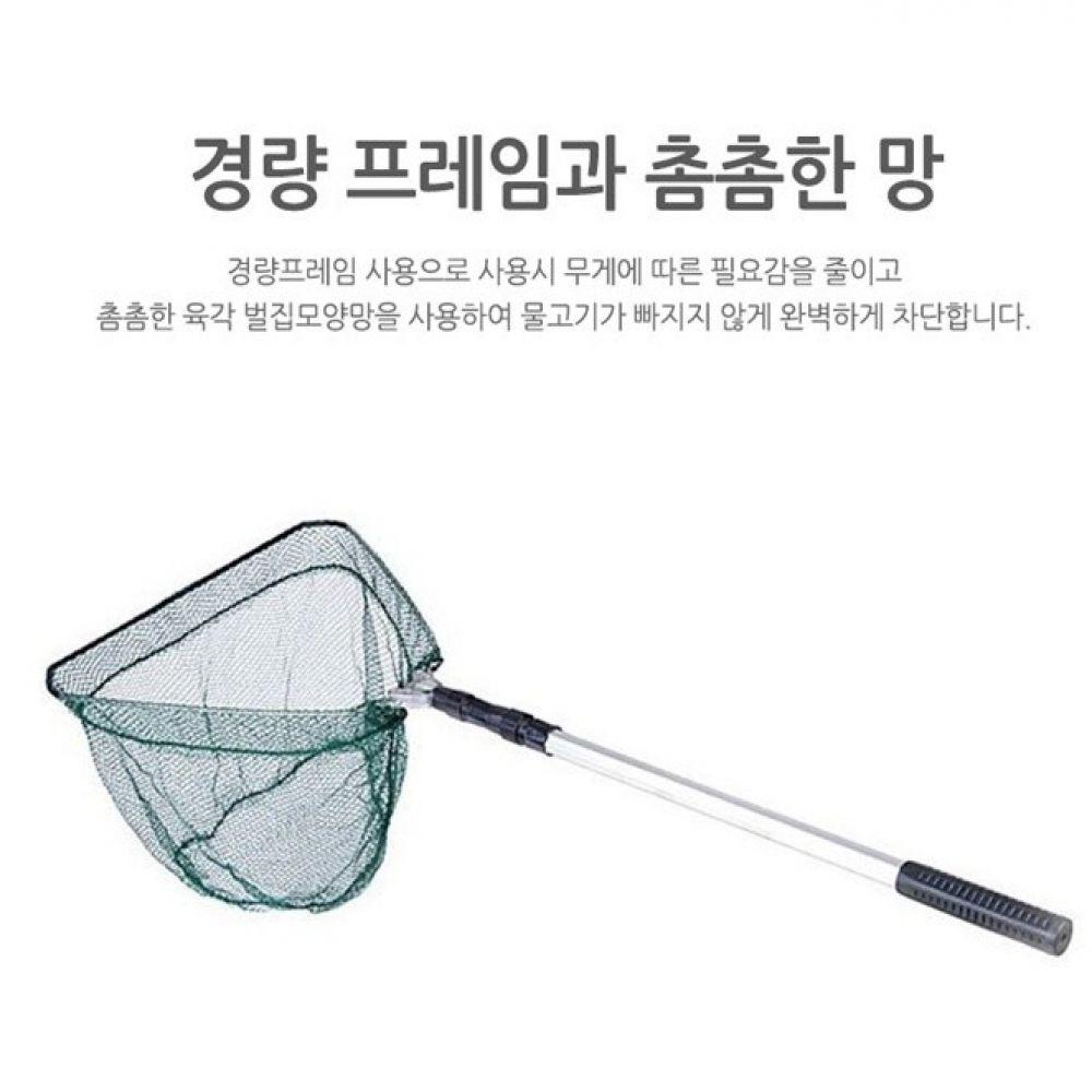 접이식 삼각뜰채 초경량 스틸프레임 낚시뜰채 물고기 낚시용품 낚시어망 뜰채 낚시뜰채 물고기뜰채