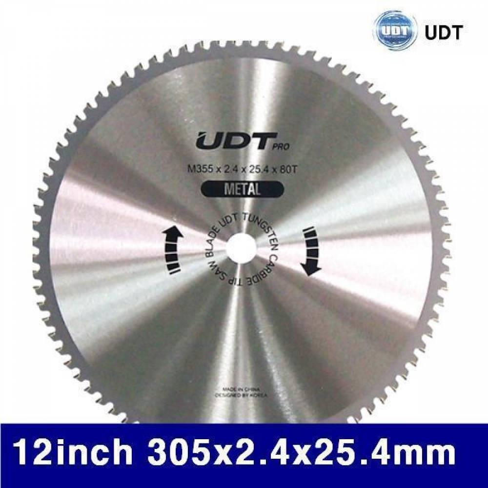 UDT 5905463 금속용팁쇼 12Inch 305x2.4x25.4mm 80T (1EA) 원형톱날 팁쏘 원형팁쏘 팁쑈 절삭 초경 공작 톱날 캇타류 원형팁쇼
