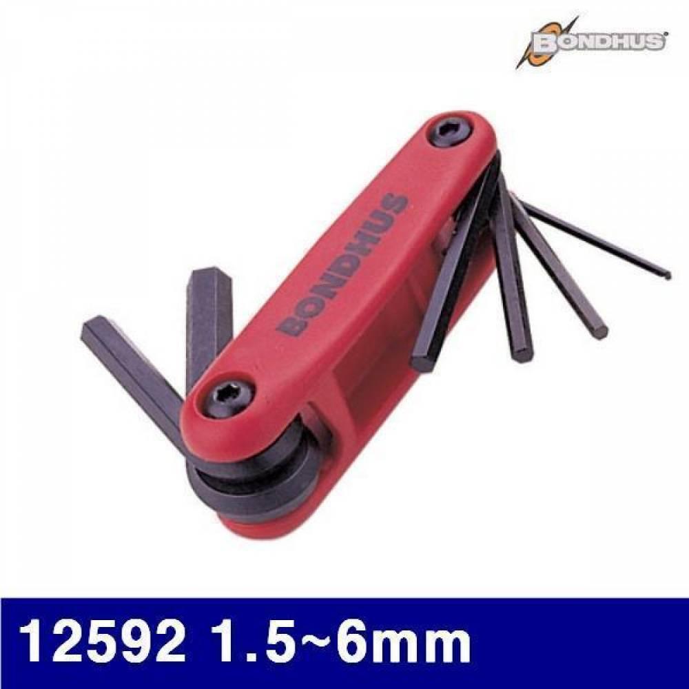 본더스 2120441 접식렌치세트(mm단위) 12592 1.5-6mm 7pcs (SET) 렌치 육각렌치 렌치셋트 볼렌치 렌치세트 작업공구 렌치 스패너 육각렌치