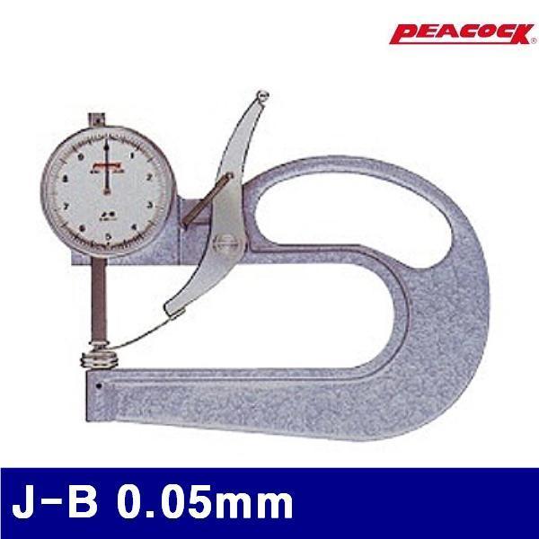 (반품불가)피코크 110-0120 다이얼 치크니스게이지 J-B 0.05mm 0-35mm (1EA) 측정공구 게이지 두께게이지 피코크 공구