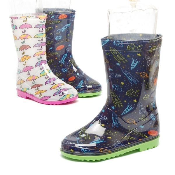 우산.우주선 패턴 아동 장화 아동화(쥬니어) 장화 우산.우주선 패턴 아동 장화