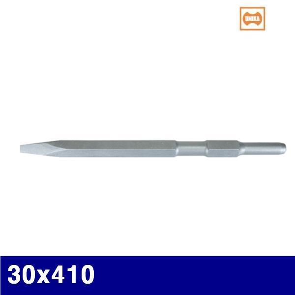 유니카 3931136 육각해머드릴치즐-포인트치즐(노미) 30x410   (1EA) 치즐 에어치즐 에어툴 에어 유압 배관 에어툴 에어함마