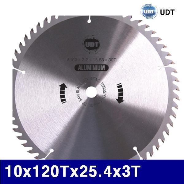 UDT 5004995 팁쏘-알루미늄용 10x120Tx25.4x3T   (1EA) 톱날 팁쏘 절삭 절삭 초경 공작 톱날 캇타류 원형팁쇼