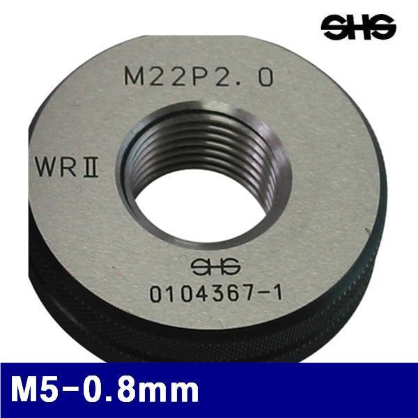 SHS 4311393 나사용 링게이지 M5-0.8mm   (1EA) 게이지류 게이지 측정공구 측정공구 게이지 링게이지