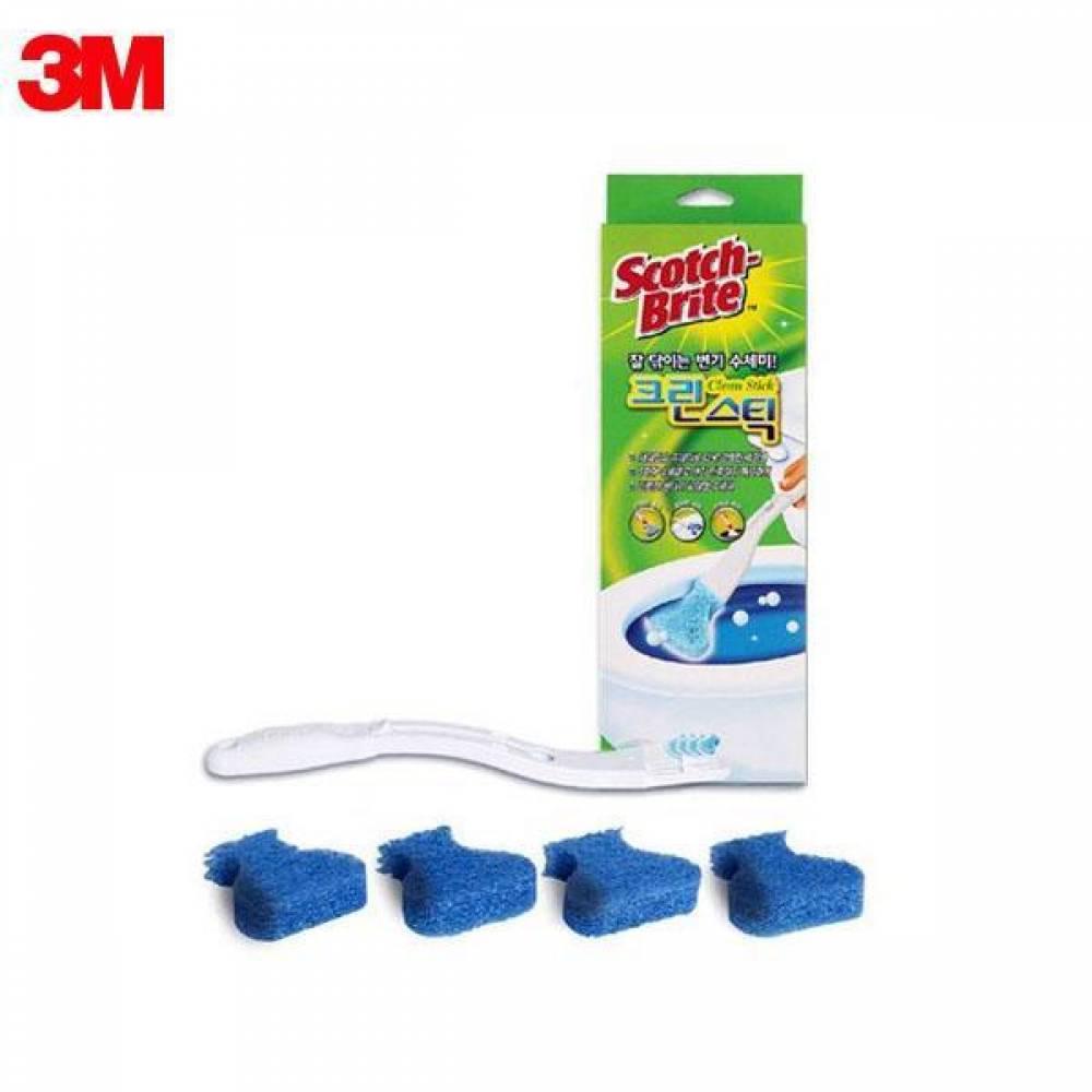 3M 스카치브라이트 변기 청소 크린스틱 스타터키트 557 변기솔/욕실청소/화장실/브러쉬/보관